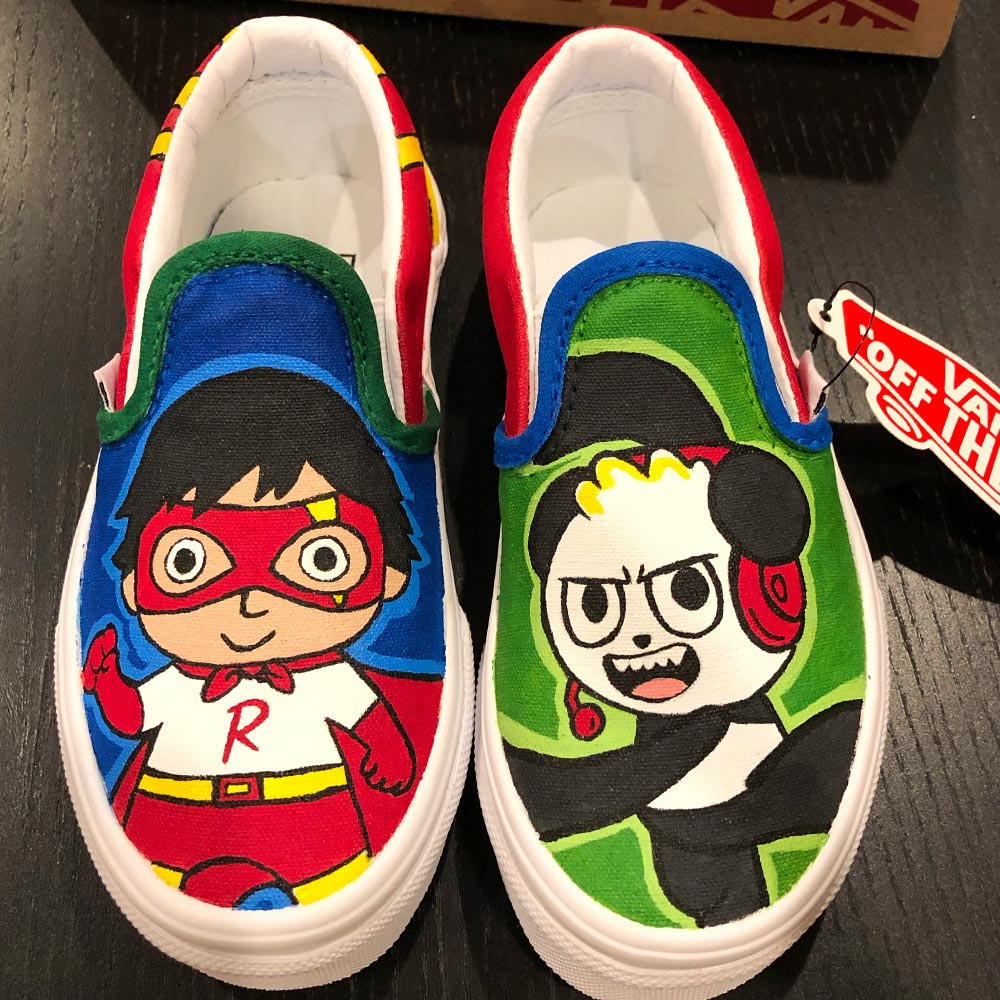 Custom Van Shoes by Orlando Ayala Ryan's Family Toy Review