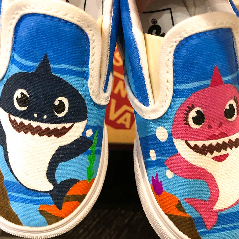 Custom Van Shoes by Orlando Ayala Baby Shark